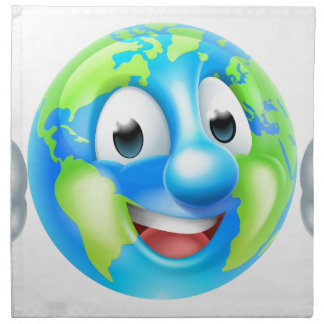 Earth Day Cartoon Character Napkin