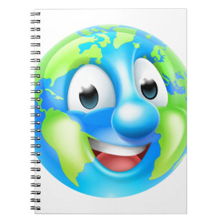 Earth Day Cartoon Character Spiral Notebook