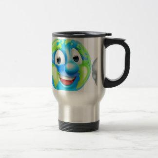 Earth Day Cartoon Character Travel Mug