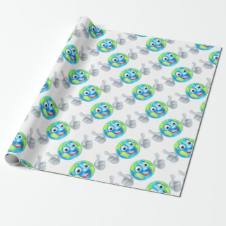 Earth Day Cartoon Character Wrapping Paper