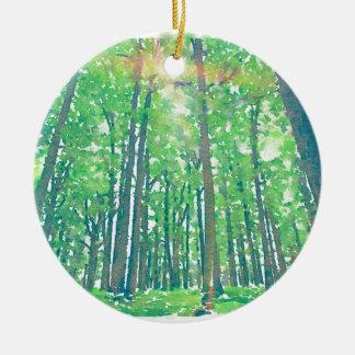 Earth Day Ceramic Ornament