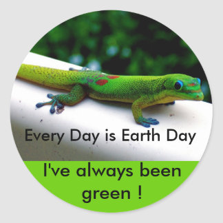 Earth Day Classic Round Sticker
