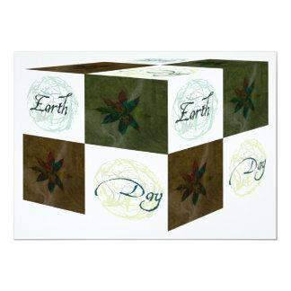Earth Day Cube 13 Cm X 18 Cm Invitation Card