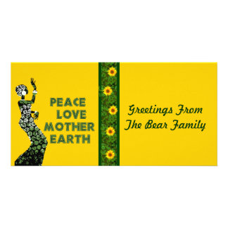 Earth Day Dancer Customised Photo Card