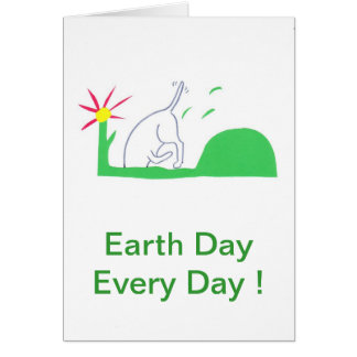 Earth Day Dog Digging Greeting Card