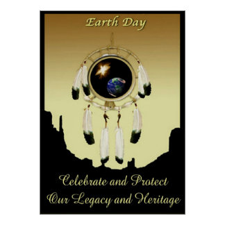 Earth Day Dreamcatcher POSTER