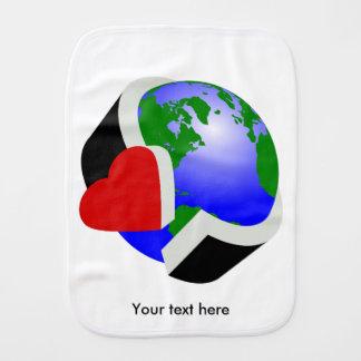 Earth Day Earth Love Burp Cloth