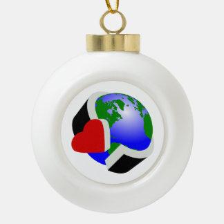Earth Day Earth Love Ceramic Ball Decoration