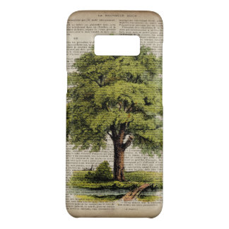 Earth Day ECO dictionary prints vintage oak tree Case-Mate Samsung Galaxy S8 Case