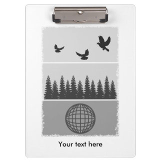 Earth Day Environmental Awareness Illustration Clipboard