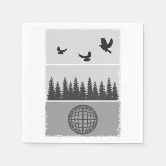 Earth Day Environmental Awareness Illustration Disposable Napkin