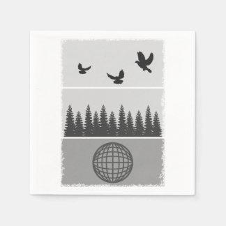 Earth Day Environmental Awareness Illustration Paper Napkins