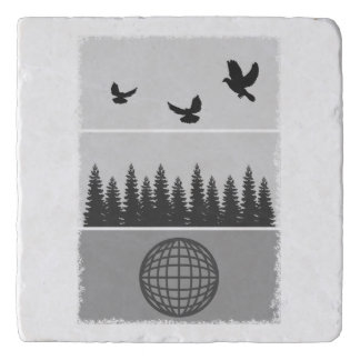 Earth Day Environmental Awareness Illustration Trivet