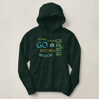 Earth Day Environmental Green Frog Recycle Hoodie