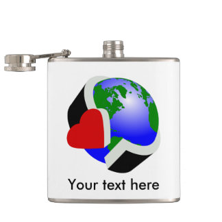Earth Day Environmental Protection Hip Flask