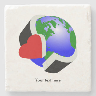 Earth Day Environmental Protection Stone Coaster