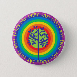 Earth Day Every Day! 6 Cm Round Badge