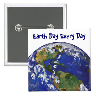 Earth Day Every Day Button