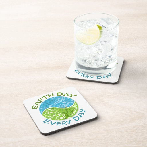 Earth Day Every Day Drink Coasters
