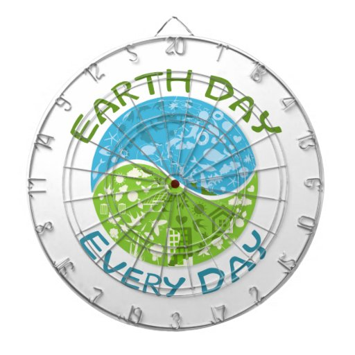 Earth Day Every Day Dartboard