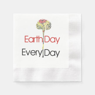 Earth Day Every Day Disposable Serviettes