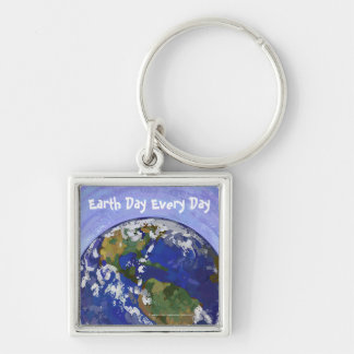 Earth Day Every Day Key Chain