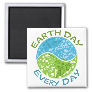 Earth Day Every Day Fridge Magnets