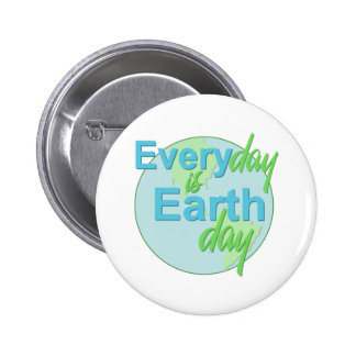 Earth Day Every Day Pinback Button