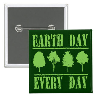 Earth Day Every Day Pinback Buttons