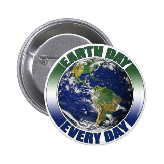 Earth Day Every Day Planet Earth Graphic 6 Cm Round Badge