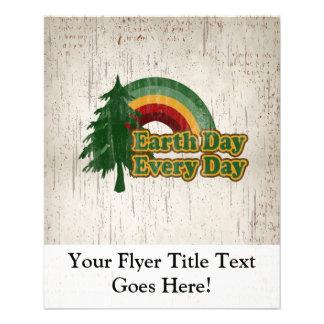 Earth Day Every Day, Retro Rainbow 11.5 Cm X 14 Cm Flyer