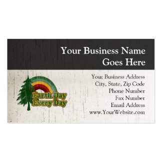 Earth Day Every Day, Retro Rainbow Business Card Templates