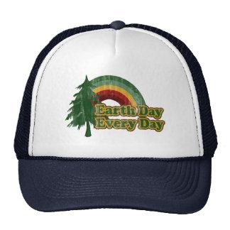 Earth Day Every Day, Retro Rainbow Hats