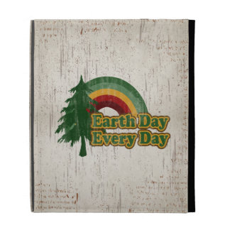 Earth Day Every Day, Retro Rainbow iPad Folio Cover