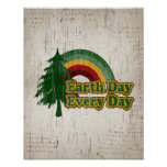 Earth Day Every Day, Retro Rainbow Posters