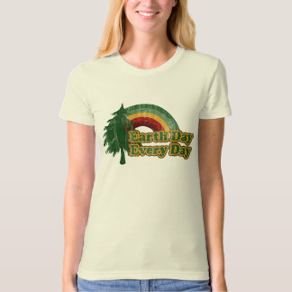 Earth Day Every Day, Retro Tree T Shirts