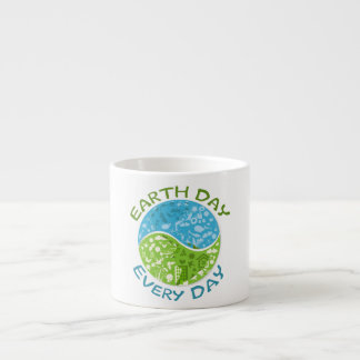 Earth Day Every Day Espresso Mugs