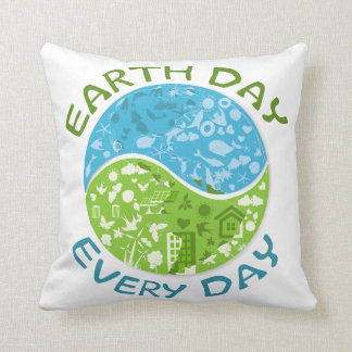 Earth Day Every Day Throw Pillow