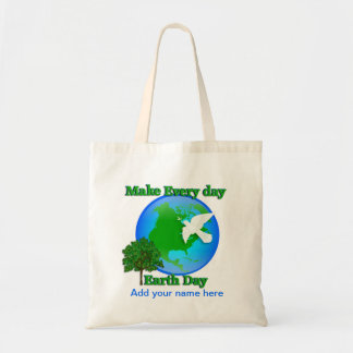 Earth Day Every Day  tote 3D graphic environment Budget Tote Bag
