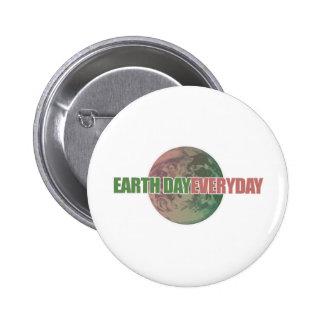 Earth Day Everyday 6 Cm Round Badge