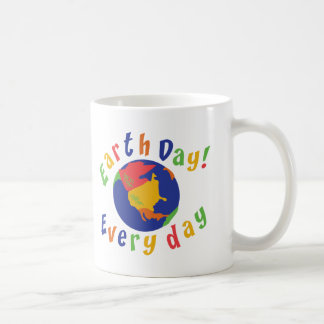 Earth Day Everyday Basic White Mug