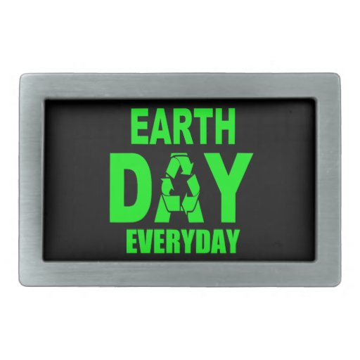 Earth Day Everyday Rectangular Belt Buckle