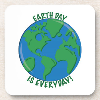 Earth Day Everyday Drink Coasters