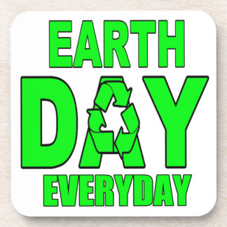 Earth Day Everyday Drink Coaster