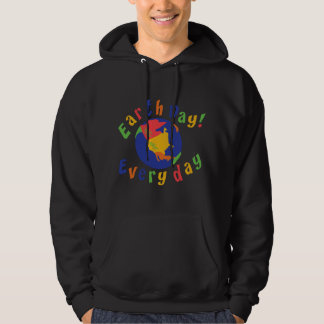 Earth Day Everyday Dark Hooded Sweatshirt