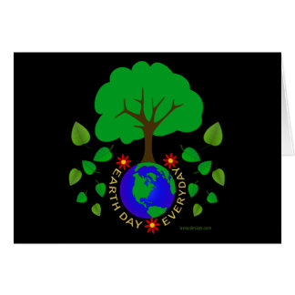 Earth Day Everyday Design Greeting Card