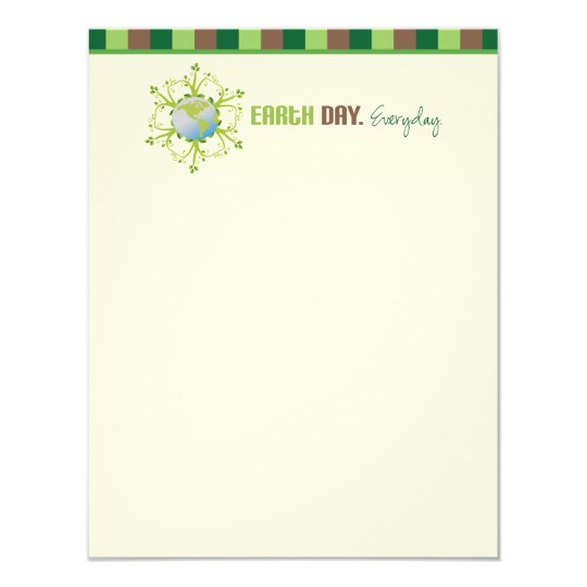 """Earth Day. Everyday."" Flat Note Cards"