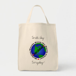 Earth Day Everyday! Grocery Tote Bag