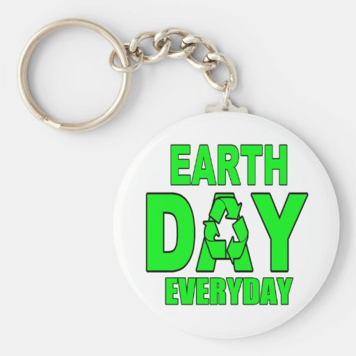 Earth Day Everyday Key Chain