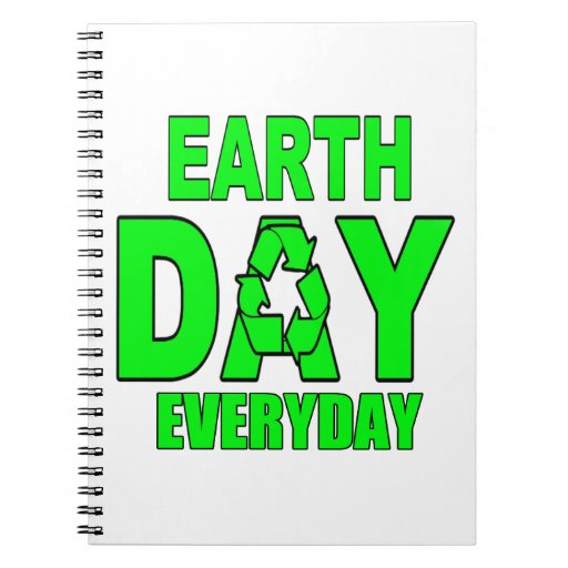 Earth Day Everyday Spiral Note Books